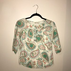 Old Navy, Paisley pattern, Quarter sleeve
